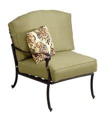 Edington Left Arm Patio Sectional Chair with Celery Cushion