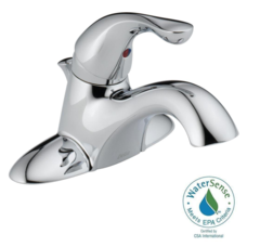 Delta Classic 4 in. Centerset Single-Handle Bathroom Faucet with Metal Drain Assembly in Chrome - 520-MPU-DST
