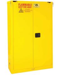 "CONDOR 45 gal. Flammable Cabinet, 66-3/8"" x 43"" x 18"", Self-Closing Door Type - 45AE88"