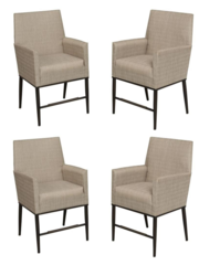 Aria Patio High Dining Chairs (4-Pack)