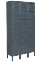 Box Locker, Assem, (18) Person, 12inD, Gray - 4MUE1