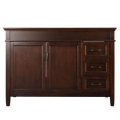 Ashburn 48 in. W x 21.625 in. D x 34 in. H Vanity Cabinet Only in Mahogany