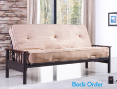 """APPLETON COMPLETE FUTON IN ONE BOX WITH 8"""" POCKET COIL MATTRESS"""