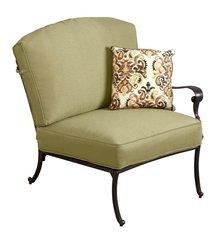 Edington Right Arm Patio Sectional Chair with Celery Cushion
