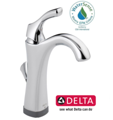 Delta Addison Single Hole Single-Handle Bathroom Faucet with Touch2O.xt Technology in Chrome - 592T-DST