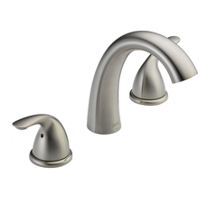 Delta Classic 2-Handle Deck-Mount Roman Tub Faucet Trim Kit in Stainless (Valve Not Included) - T5722-SS
