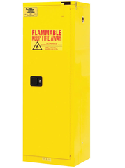 "CONDOR 22 gal. Flammable Cabinet, 66-3/8"" x 23"" x 18"", Self-Closing Door Type - 45AE81"