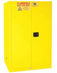 """CONDOR 90 gal. Flammable Cabinet, 65"""" x 43"""" x 34"""", Manual Door Type - 45AE85"""