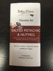 Salted Pistachio & Nutmeg Chocolate Bar