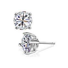 SS Cubic Zirconia Stud Earrings