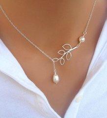 Pearl Leaf Fashion Necklace