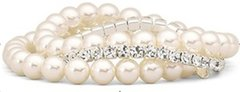 Elastic Rhinestone Pearl Bracelet
