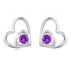 Sterling Silver Double Heart Earrings