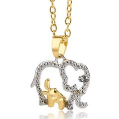 Mom & Baby Elephant Necklace