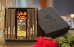 Pacari Premier Chocolate Collection in Black Leather Box
