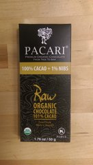Pacari Raw 101% Organic Chocolate Bar