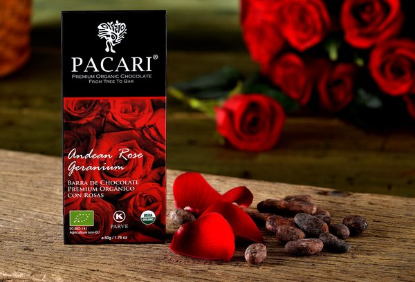 Pacari Roses Organic Chocolate Bar