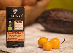 Pacari Org. choc. Covered golden berries