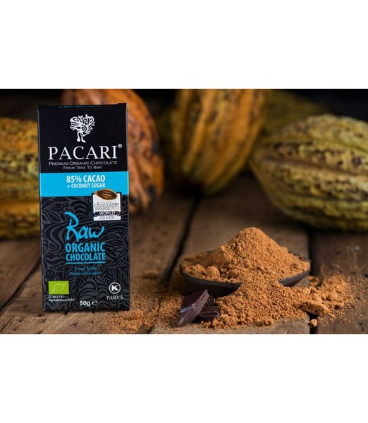 Pacari Raw 85% Organic Chocolate Bar