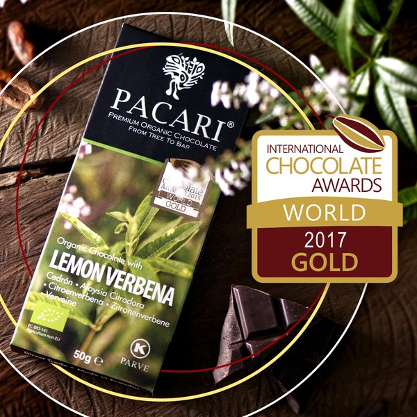 Pacari Lemon Verbena Organic Chocolate Bar