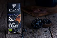 Pacari Raw 70% w/Andean Blueberry Org. Chocolate Bar