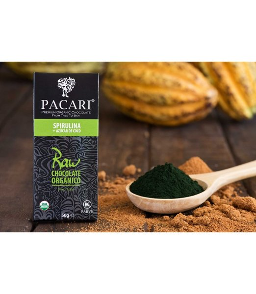 SALE - Pacari Raw 70% with Spirulina Organic Chocolate Bar
