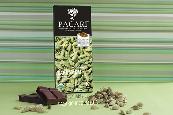 Pacari Cardamom Organic Chocolate Bar