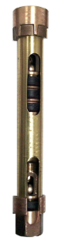 "852B 2-1/4"" x 36"" Stroke Open Top Deep Well Brass Cylinders"