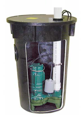 912-0007 Packaged sewage pump system with 4/10 HP M264 Zoeller Pump