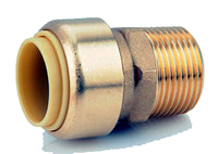 Brass Push On Male Adapters 4 Pack