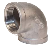 Stainless Steel Threaded 90 Ells