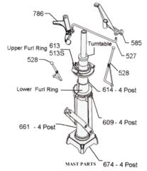702 6' X Windmill Mast Parts