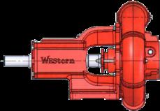 "Western Water Truck Pump 3"" NPTx4"" NPTx9"" Impeller XS 349-BFNP-CW"