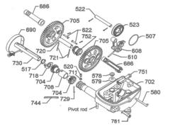 702 6' X Windmill Motor Parts