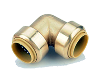 Brass Push On Elbows 4 Pack