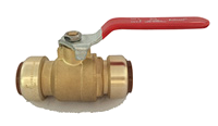 Brass Push On Ball Valves 2 Pack