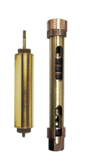 442 Flush Cap / 449-B Open Top Brass Water Well Cylinders