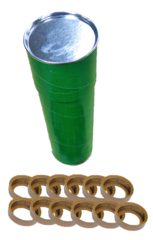 706 Hard Leather Cylinder Cups - 12 Pack - Choose from drop down