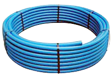 200# SIDR CE Blue Poly Pipe 100' coils