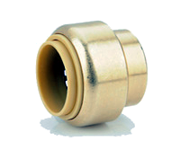 Brass Push On End Caps 4 Pack