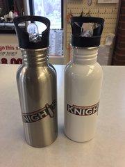 KW Knight's stainless steel water bottle