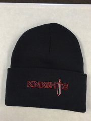 KW Knight's knitted stocking cap with cuff and embroidered logo