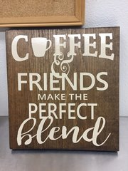 Wooden Perfect Blend plaque