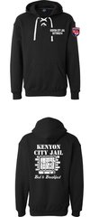Kenyon Police Department Shop with a COP lace tie hoodie