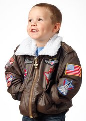 Brown Bomber Jacket for Kids