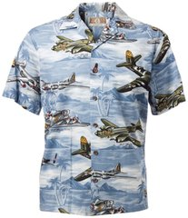 Lagoon Blue Hawaiian Shirt - Also in Green