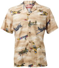 Brown Hawaiian Shirt - 100% cotton