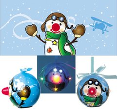 Blinking Pilot Christmas Ornament
