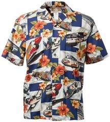 Hawaiian Shirt - Blue Hibiscus