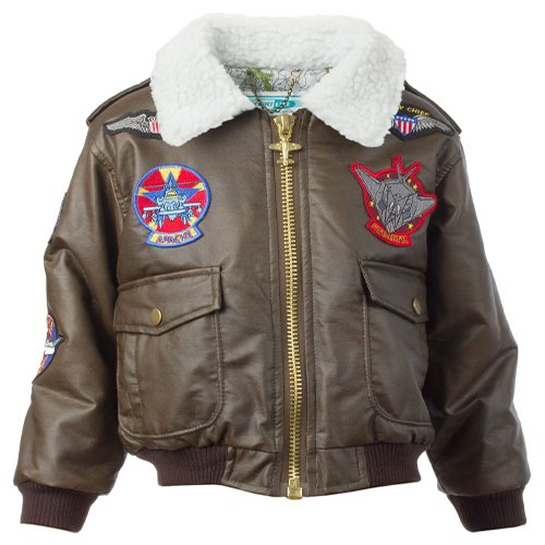 Brown Bomber Jacket For Kids | Aviation Gifts By Ruth